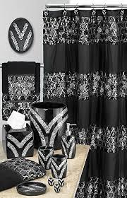 black and teal shower curtain. popular bath 838770 sinatra shower curtain,black,shower-curtains black and teal curtain