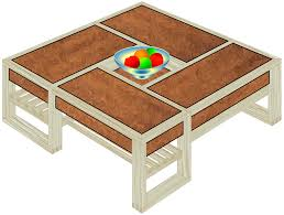 coffee table with storage plans