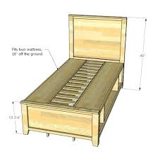 Twin Platform Bed With Storage Plans Free Easy Ideas On How To Make ...