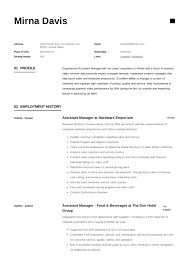 Supermarket Manager Resumes Assistant Manager Resume Writing Guide 12 Samples Pdf