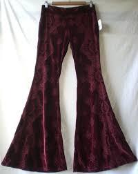 free people burnout velvet pants velour bell bottom super wide extreme flare s