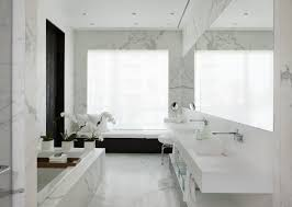 Bathroom:Luxury Bathroom With Marble In Walls And Floors Ideas Modern  Bathroom With White Marble