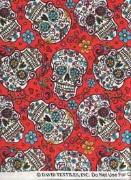 Amazon.com - David Textiles Fabric Fun Folk Folkloric Art Skull ... & Amazon.com - David Textiles Fabric Fun Folk Folkloric Art Skull Fabric  DT-2888 Adamdwight.com