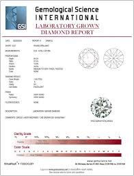 Color Clarity Chart Grading Reports Gsi Gemological Science International