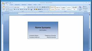 Microsoftess Card Templates Word Template Free Download