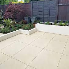 porcelain vs natural stone patio paving