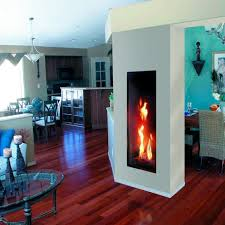 gas fireplace contemporary closed double sided roma 50 tall