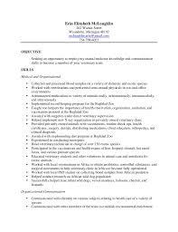 Veterinary Resumes Erin Final Vet Tech Resume