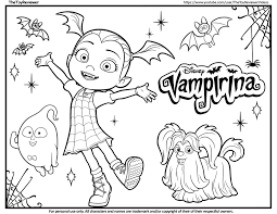 Halloween disney coloring pages fresh vampire coloring sheets. Vampirina Coloring Page Coloring Pages Coloring Book Pages Mermaid Coloring Pages