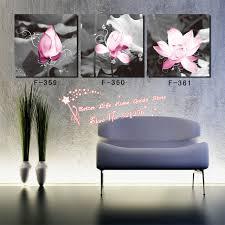 black white pink wall art