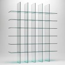 sophisticated glass wall shelves for each room design