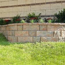home depot landscape block concrete block retaining wall ideas retaining wall blocks