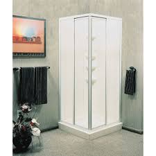 Bathroom: Cool Corner Shower Stall Kits Plus White Shower Pans And ...
