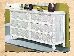 white wicker dresser.  White Santa Cruz 6 Drawer Wicker Dresser White To T