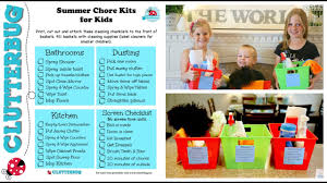 Kids Summer Morning Routine Chores Kits And Checklists Youtube