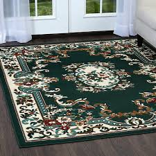 oriental green area rug 8 x 11 large persian carpet 83 actual 7 8 x 10 8