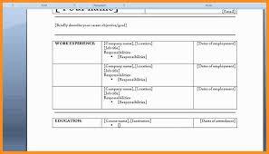 8 Word 2007 Resume Template Microsoft Word 2007 Resume Template