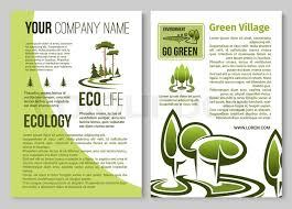 Informational Poster Sample Layout Ecology And Environment Protection Stock Vector
