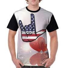 Amazon Com Asl American Sign Language I Love You Mens