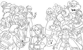 Small Picture Super Smash Bros Wii U Coloring Pages In Pages glumme