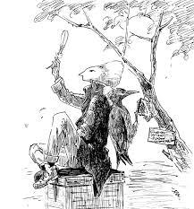 鳥人間23 キツツキの俳優ハートヘッドイラストnote