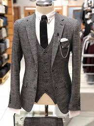 Mens Designer Suits Uk Slim Fit Wool Fabric Suit Vest Black Designer Suits For