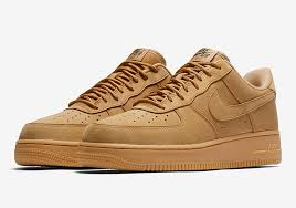 nike air force 1. nike is harvesting some \u201cwheat\u201d sneakers once again this fall, with the return of air force 1 in flax. releasing previously mid and high versions,