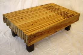 Interior designs of wooden pallet table: