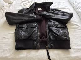 levis brown leather jacket l mens vgc hardly worn