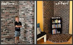 Loves The Find How To Paint Whitewash Limewash Brick  Our 1st How To Clean Brick Fireplace