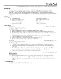 Computer Repair Technician Resume Prepasaintdenis Com