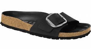birkenstock birkenstock madrid big buckle black oiled leather
