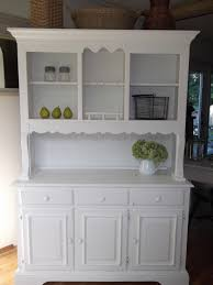 Kitchen Buffet Hutch Furniture Shabby Cottage French Country Farmhouse White Hutch Buffet