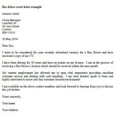 Cover Letter For Driving Job With No Experience Bus Driver Cover Letter Example Learnist Org