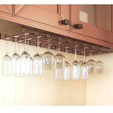 rack and hook stemware glass wine hanger under cabinet office holder ikea