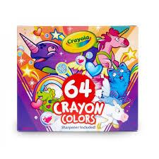 Crayola Uni Creatures Coloring Pages And 64 Count Crayons Walmartcom