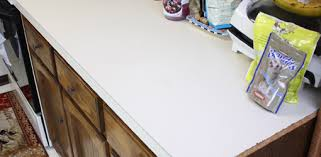 kitchen countertop before applying faux granite paint finish