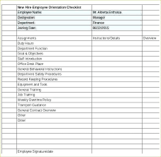 New Employee Checklist Template Best Of Gallery Training