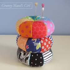 Yet more pincushions? | Granny Mauds Girl & Pincushions made using Kelly McKaig's pattern from Last-Minute Patchwork &  Quilted Gifts Adamdwight.com