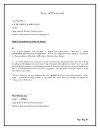 Letter Of Transmittal Example Transmittal Letter Doc