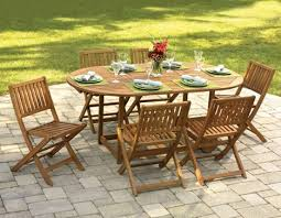 Foldaway Patio Table And Chairs Stows Seating For Six Beneath The Fold Away Outdoor Furniture