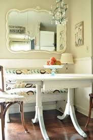 breakfast nook decorating ideas with mirror and small chandelier breakfast nook decorating ideas in home