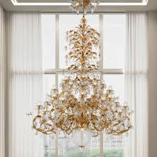 luxurious italian swarovski crystal floine style large chandelier
