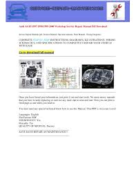 audi a4 b5 1997 1998 1999 2000 electrical wiring diagram pdf audi a4 b5 1997 1998 1999 2000 workshop service repair manual pdf service repair manuals pdf