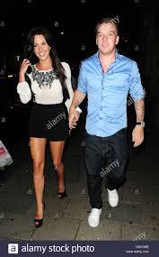Danielle Lloyd and Jamie O'Hara leaving Novikov restaurant London ...