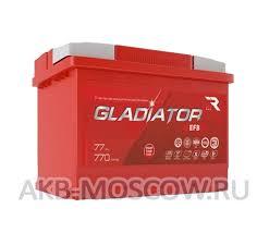 Автомобильный аккумулятор <b>Gladiator</b> EFB 6CT-<b>77L</b> (обратная ...