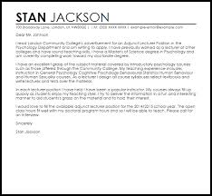 Cover Letters That Worked Lecturer Sample Cover Letter Cover Letter Templates Examples