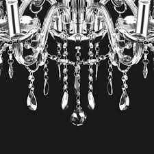 4 of 7 provincial vintage chandelier 6 light smoke gray e12 crystals glass