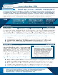 Achievement Resumes Resume Example For A Digital Marketing Director This Sample