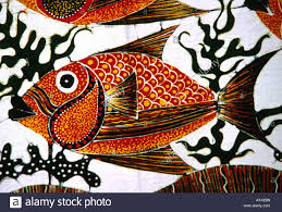 Batik Fish Design Sri Lanka Crafts Hikkaduwa Laksiri Batiks Fish Design Stock